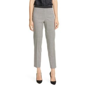 Boss Tiluna side sip wood straight leg suit pants